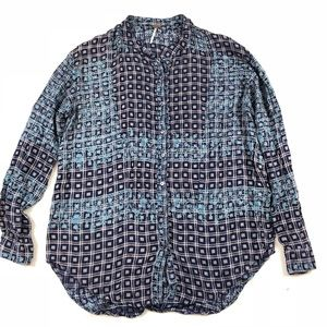 Free people Buttons Down Blouse SZ M